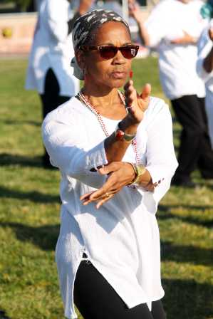 Tai Chi was performed alongside Yoga