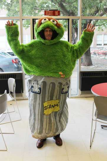 Mr. Greg Kuhn poses how he thinks a grouch should look.