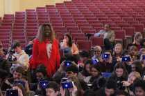 CEO of CEEK VR, Mary Spio with Manual students. Photo by Cicada Hoyt.