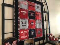 A Manual-themed quilt was auctioned off at the silent auction.