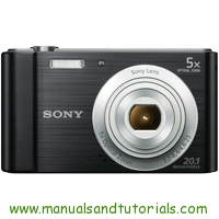 Sony DSC-W800 Manual And User Guide PDF