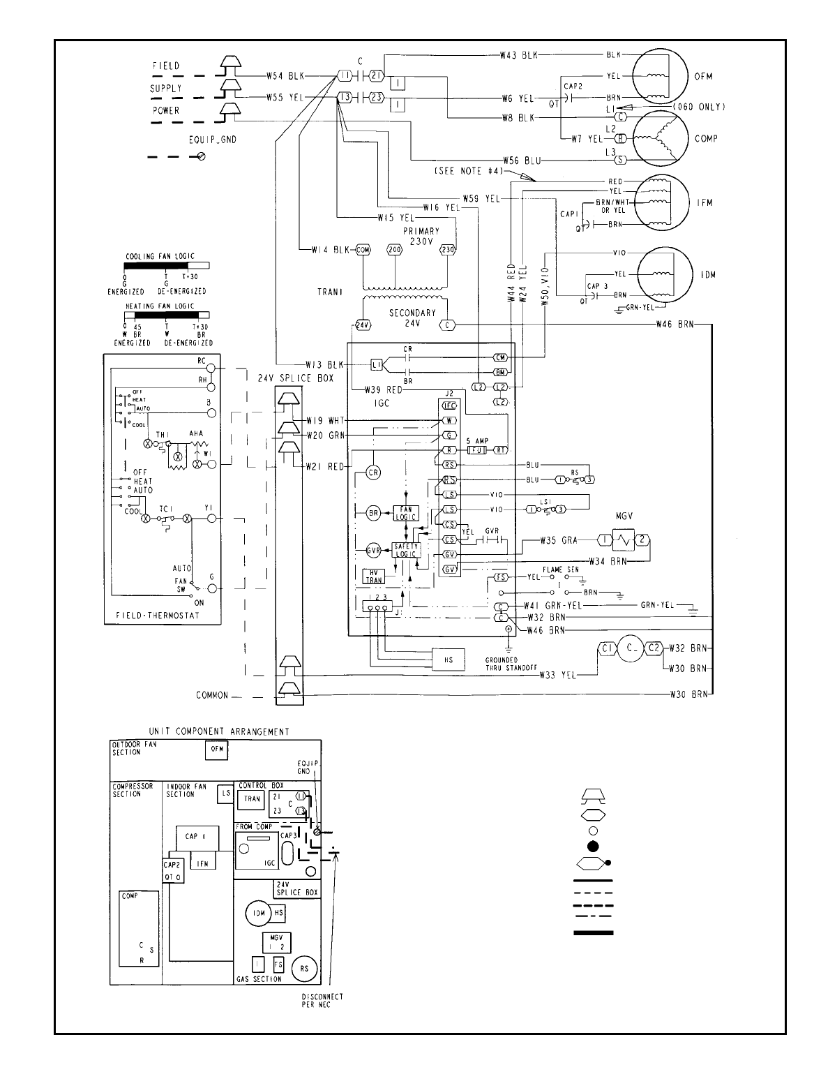 Bryant 582a Typical Wiring Schematic 582a030 060 208 230