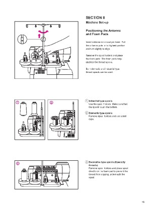 Elna 683686 Overlock Sewing Machine Instruction Manual