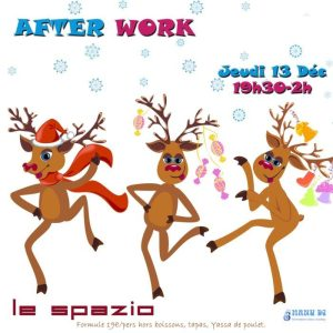After work jeudi 13 décembre 2018 au restaurant Le Spazio