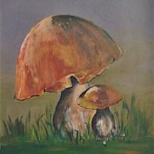 tableau deux champignons