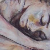 peinture garçon endormi
