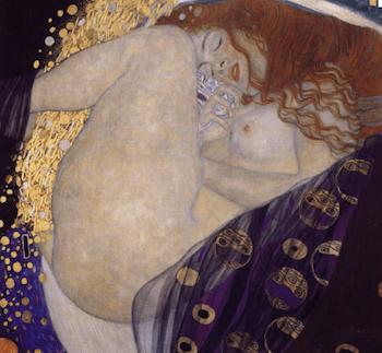 peinture de Klimt Danaé