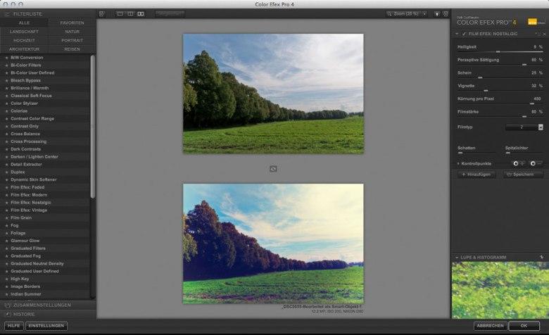 Color Efex Pro 4 Film Efex Nostalgic