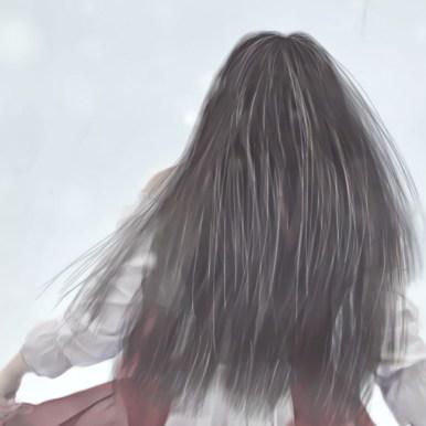 Closeup der Haare