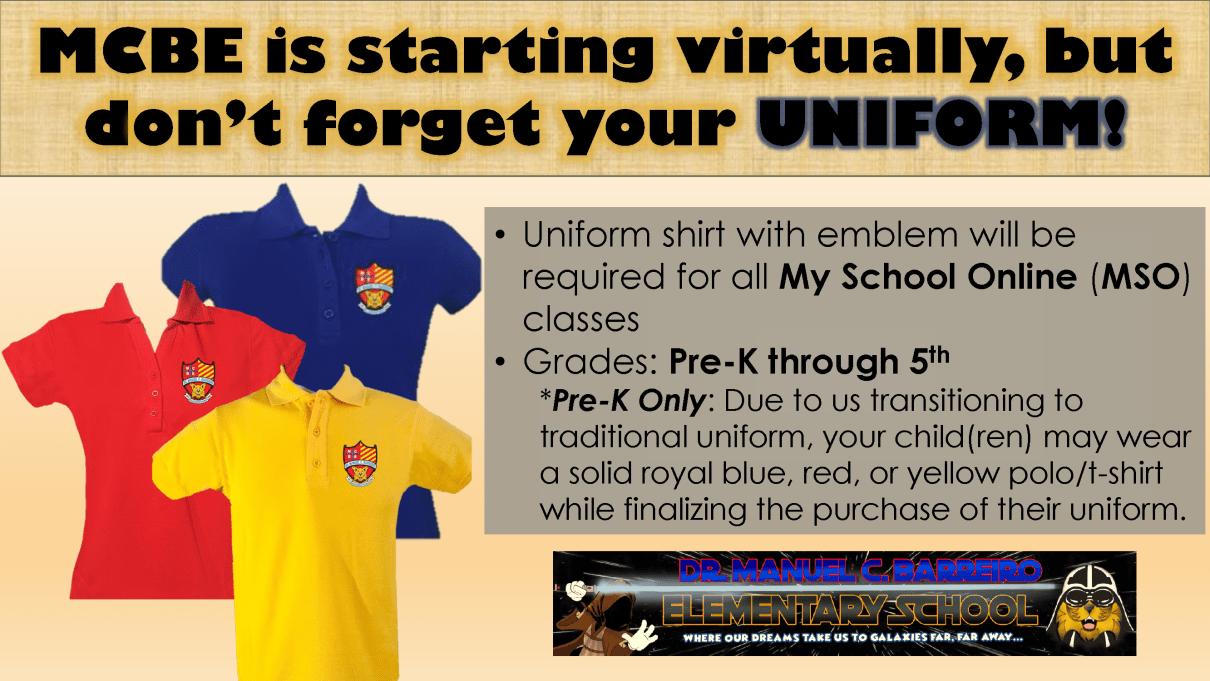 virtual uniform announcement