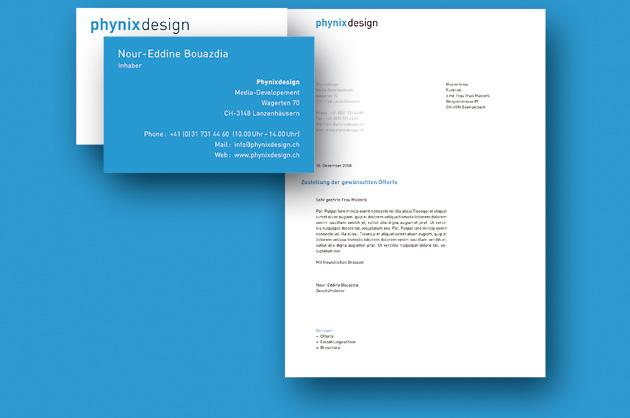 Erscheinungsbild der Firma Phynixdesign