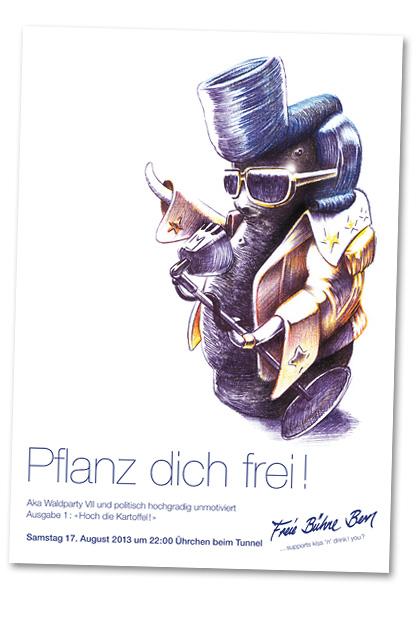 Flyer für die Waldparty Nummer sieben, Variante A5