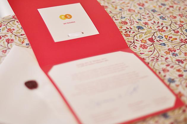 Innenseite Hochzeitskarte