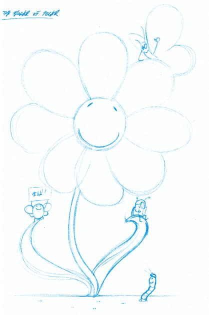 Skizze flower of power