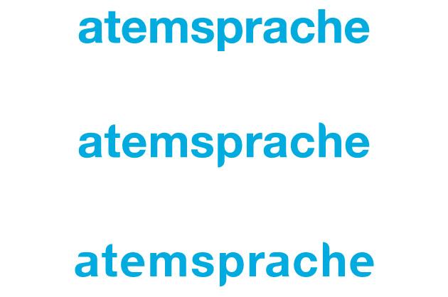 Schriftmodifikation für das Logo