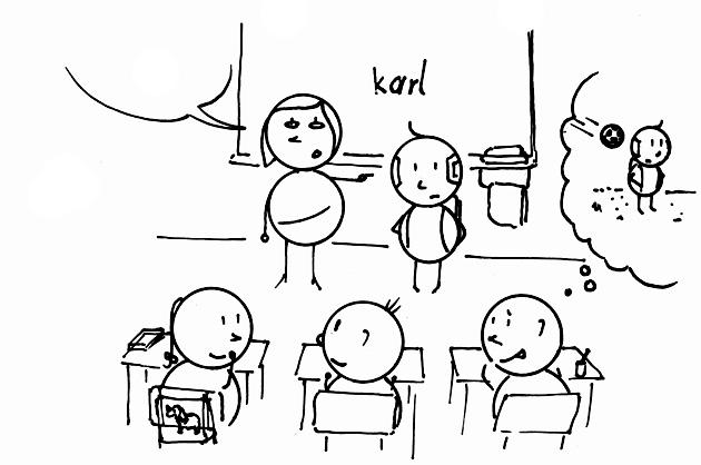 Karl vor der neuen Klasse