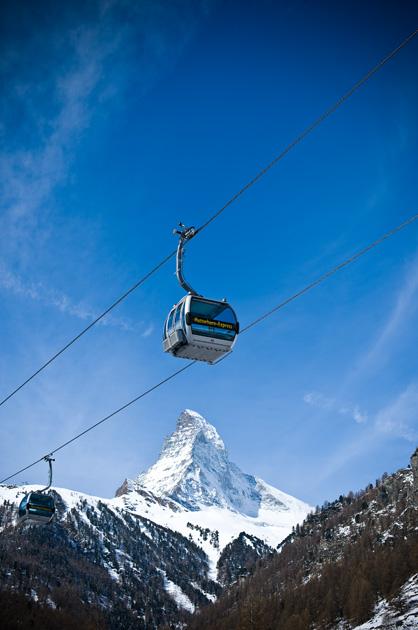 Gondel vor dem Matterhorn