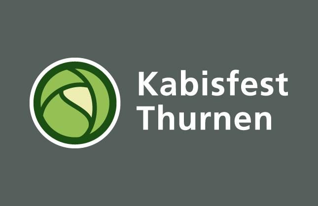 Logo-Design Kabisfest Thurnen, final pick in negativer Anwendung