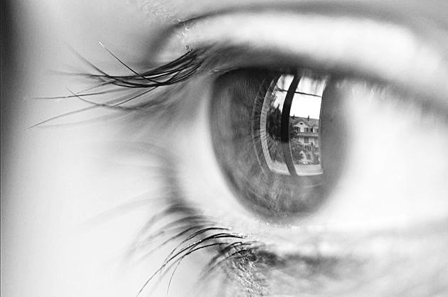 Nahaufnahme Auge; Schwarz-Weiss-Challenge Tag 1
