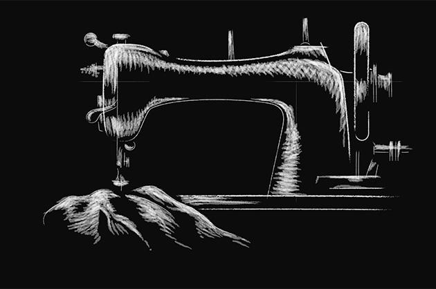 Reinillustration 2 – Nähmaschine