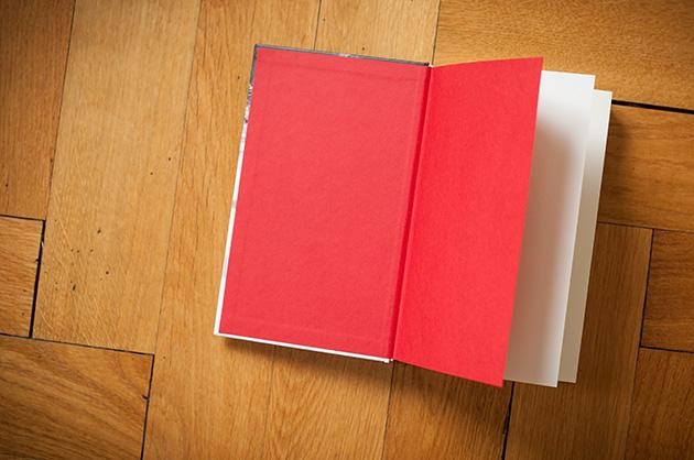 Buchgestaltung – Der schöne Tod, Vorsatz in Rot