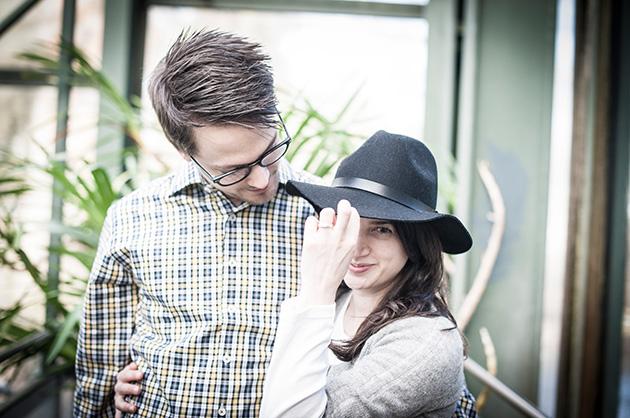 Fotoshooting für eine Hochzeitskarte