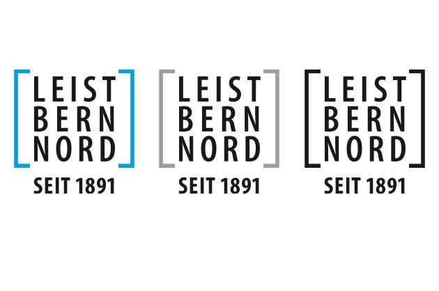 Leist Bern Nord – Logoanwendungen positiv auf weissem Hintergrund