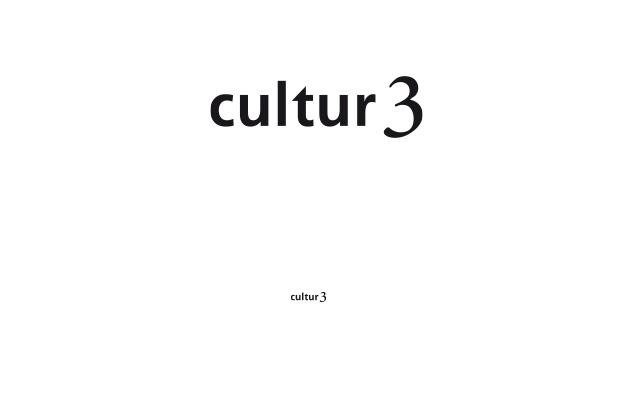 Schriftzug cultur3 – Logo-Design positiv ohne Zusatz