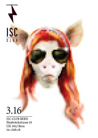 Plakatwettbewerb fürs ISC – Flyer-Sujet Gingerpig