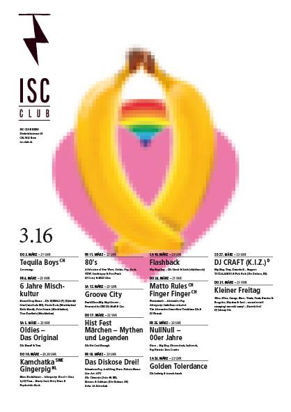 ISC-Plakatwettbewerb mit dem Sujet für den Anlass Golden Tolerdance