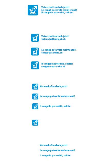 Logo Vaterschaftsurlaub jetzt – flächiges Logo positiv und farbig