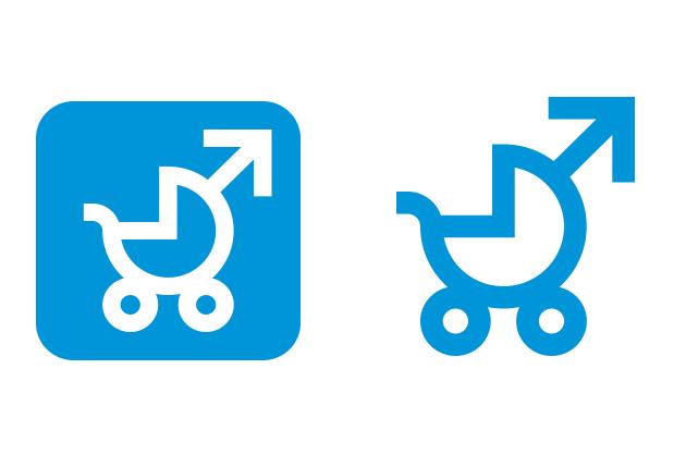 Logo Vaterschaftsurlaub jetzt – Obervarianten des Logos