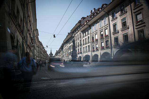 Kramgasse Bern, Langzeitbelichtung bei Tag