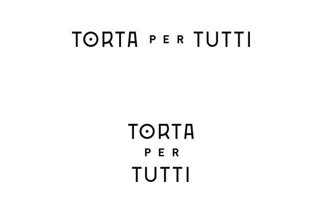 Logo Torta per Tutti Reinentwurf der Schriftzüge hoch und quer positiv