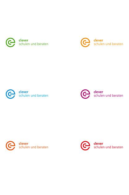 Farbvarianten Logo clever