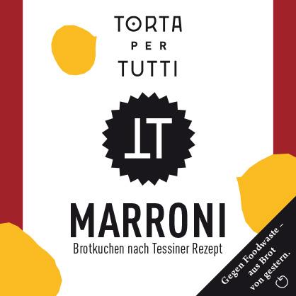 Verpackungsdesign Torta per Tutti, fertige Verpackung der Geschmacksrichtung «Marroni»