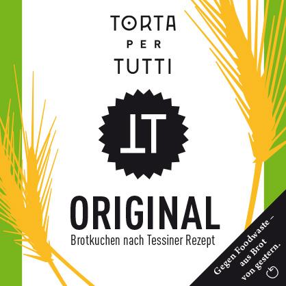 Verpackungsdesign Torta per Tutti, fertige Verpackung der Geschmacksrichtung «Original»