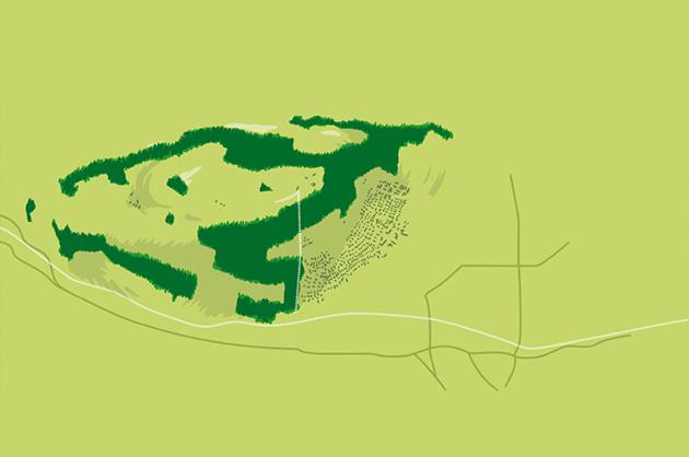 Ortsplan Köniz, Illustrationsansatz als Pixelgrafik