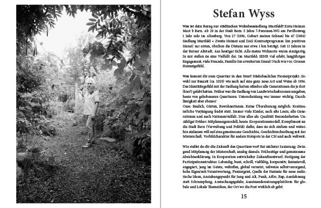 Doppelseite aus dem Murifeldbuch mit dem Beitrag von Ste