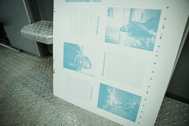 Belichtete Murifeldbuch-Druckplatte für den Offsetdruck