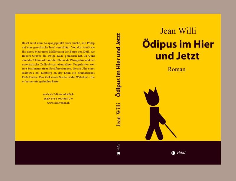 Grafik, Buchcover und Buchgestaltung für «Ödipus im Hier und Jetzt» von Jean Willi, erschienen im Vidal-Verlag