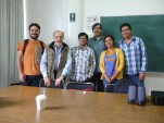 Con el doctor Adolfo Gilly y Luis Granados y compañeros de la clase de historia UNAM