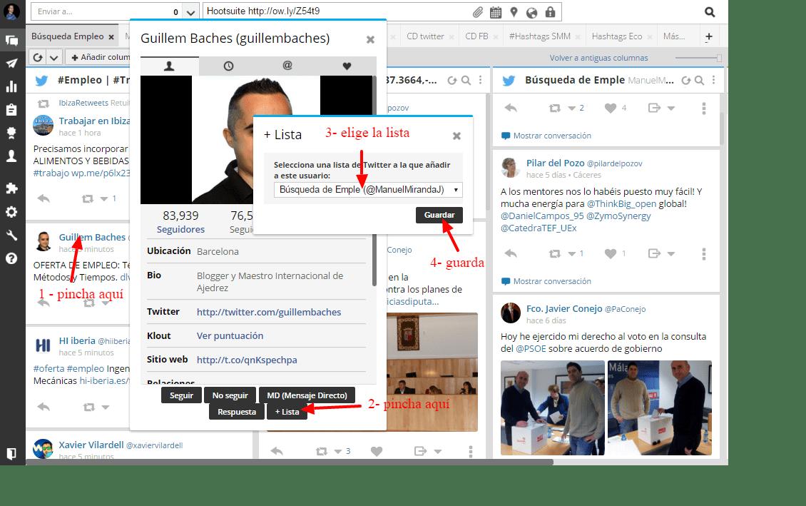 crear listas Hootsuite 3