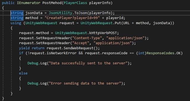 Uploading RAW Json data through UnityWebRequest  – Manuel
