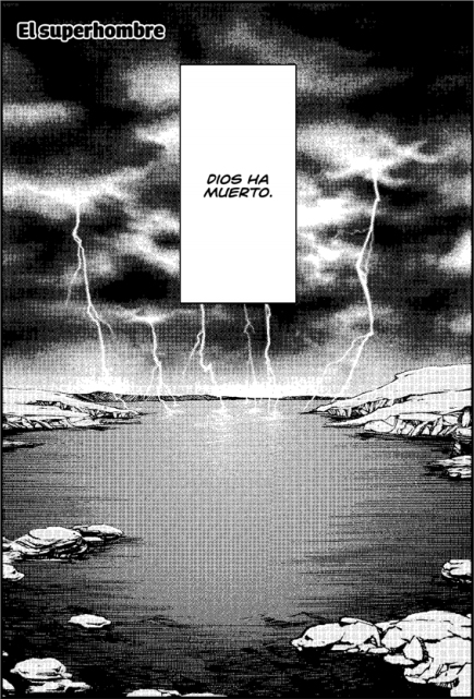 Primera página de Así habló Zaratustra, el manga