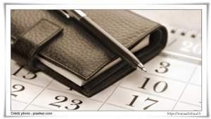 Agenda de la politique éditoriale du blog - Calendrier marketing 2021