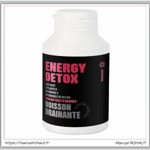 Beautysane energy detox - boisson drainante fabriquée en France par Beautysané - saveur fruits rouges (édition limitée)