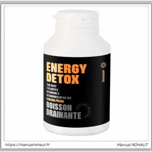 Beautysane energy detox - boisson drainante fabriquée en France par Beautysané - saveur pêche