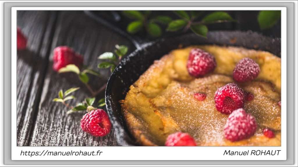 Recette healthy, saine, rapide et gourmande Beautysané© : dutch baby pancake framboise
