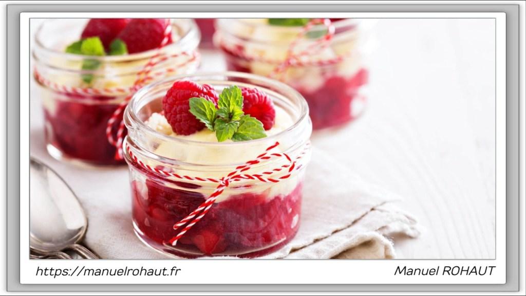 Recette healthy, saine, rapide et gourmande Beautysané© : Verrines framboise citron.